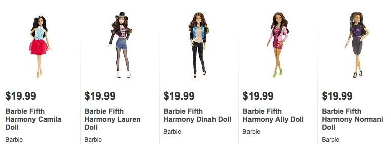Fifth Harmony Barbies are on sale at Target! Order them below.